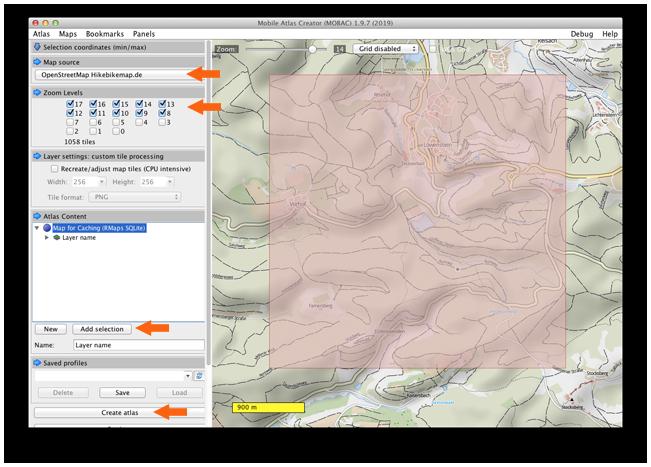 MOBAC - Erstellung Offline Karte