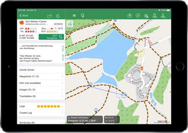 Geocaching mit dem iPad