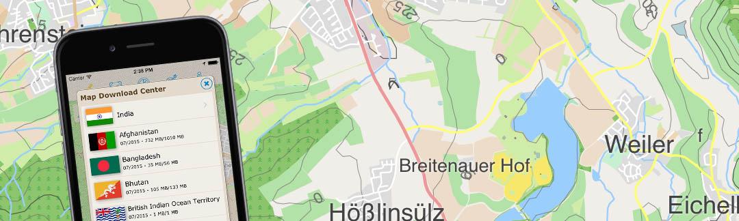Offline Vector Maps