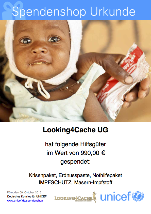 UNICEF Spende